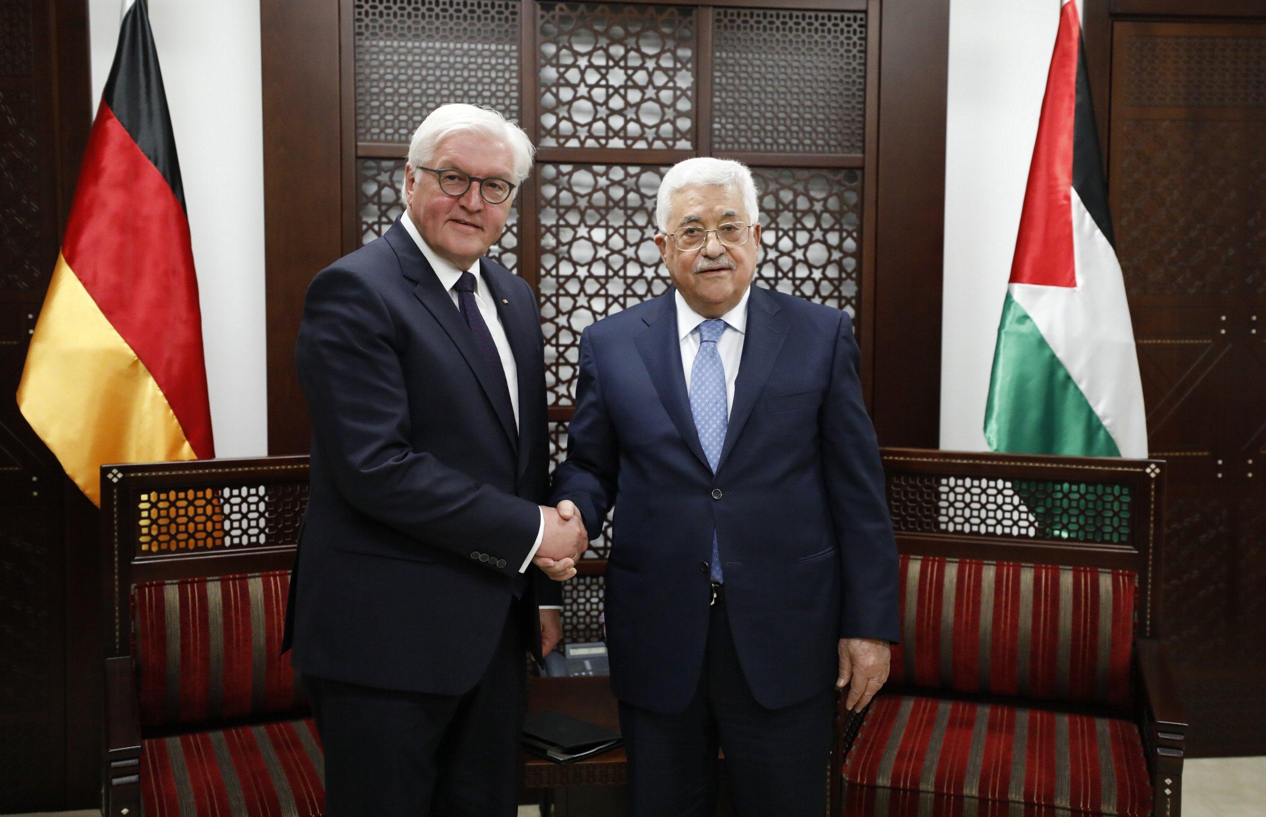 Frank-Walter Steinmeier and Mahmoud Abbas