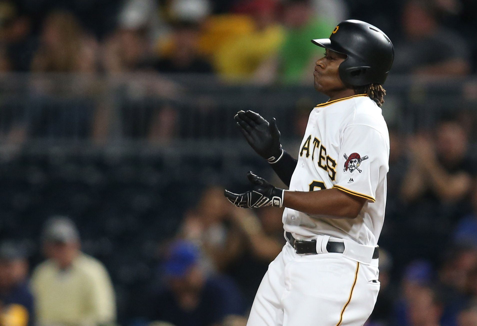 Pittsburgh Pirates second baseman Gift Ngoepe at PNC Park, Pittsburgh, April 26.