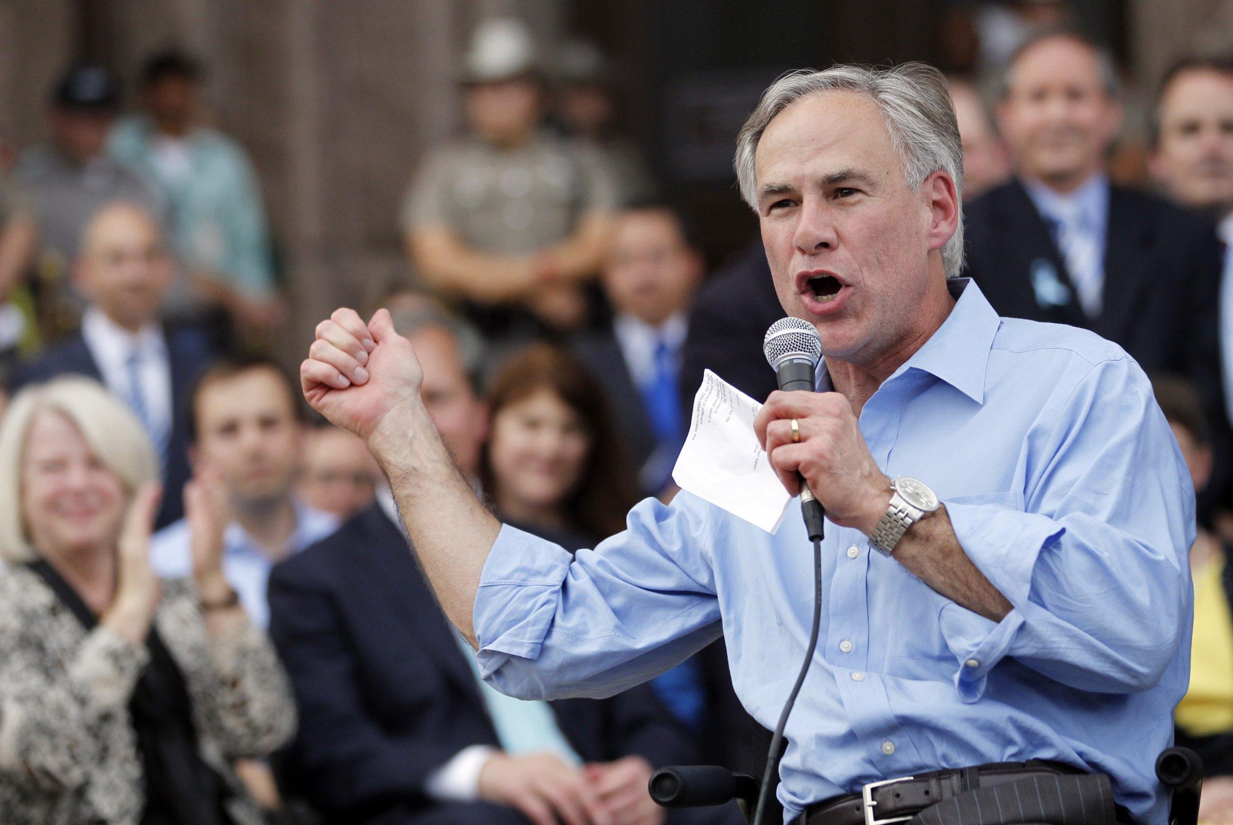 Gov. Greg Abbott of Texas