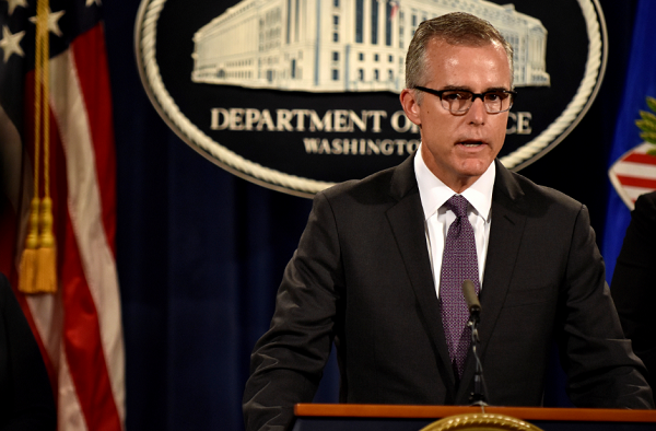 Deputy Director of the FBI Andrew McCabe will more than likely serve as acting director following James Comey's termination.
