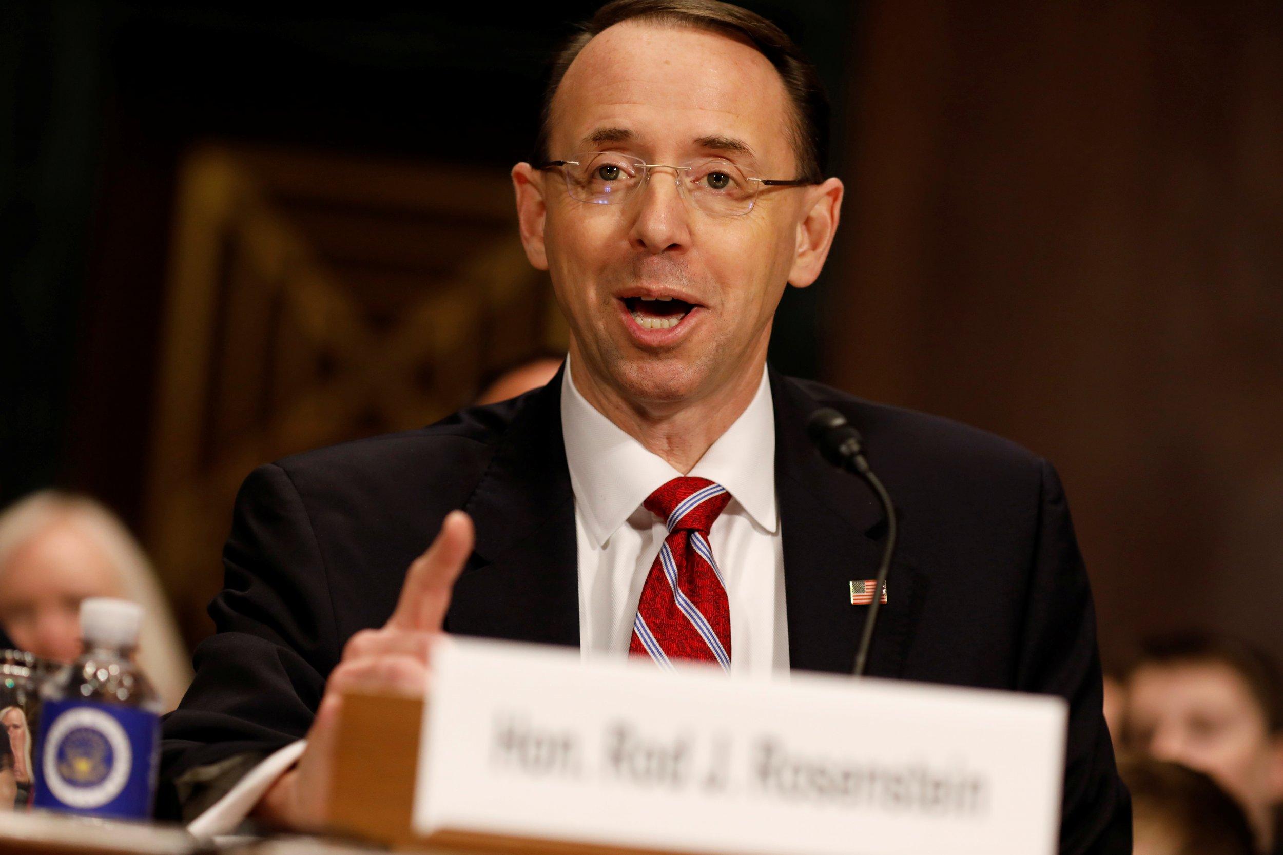 Rod Rosenstein: Donald Trump's Firing of FBI Director ...