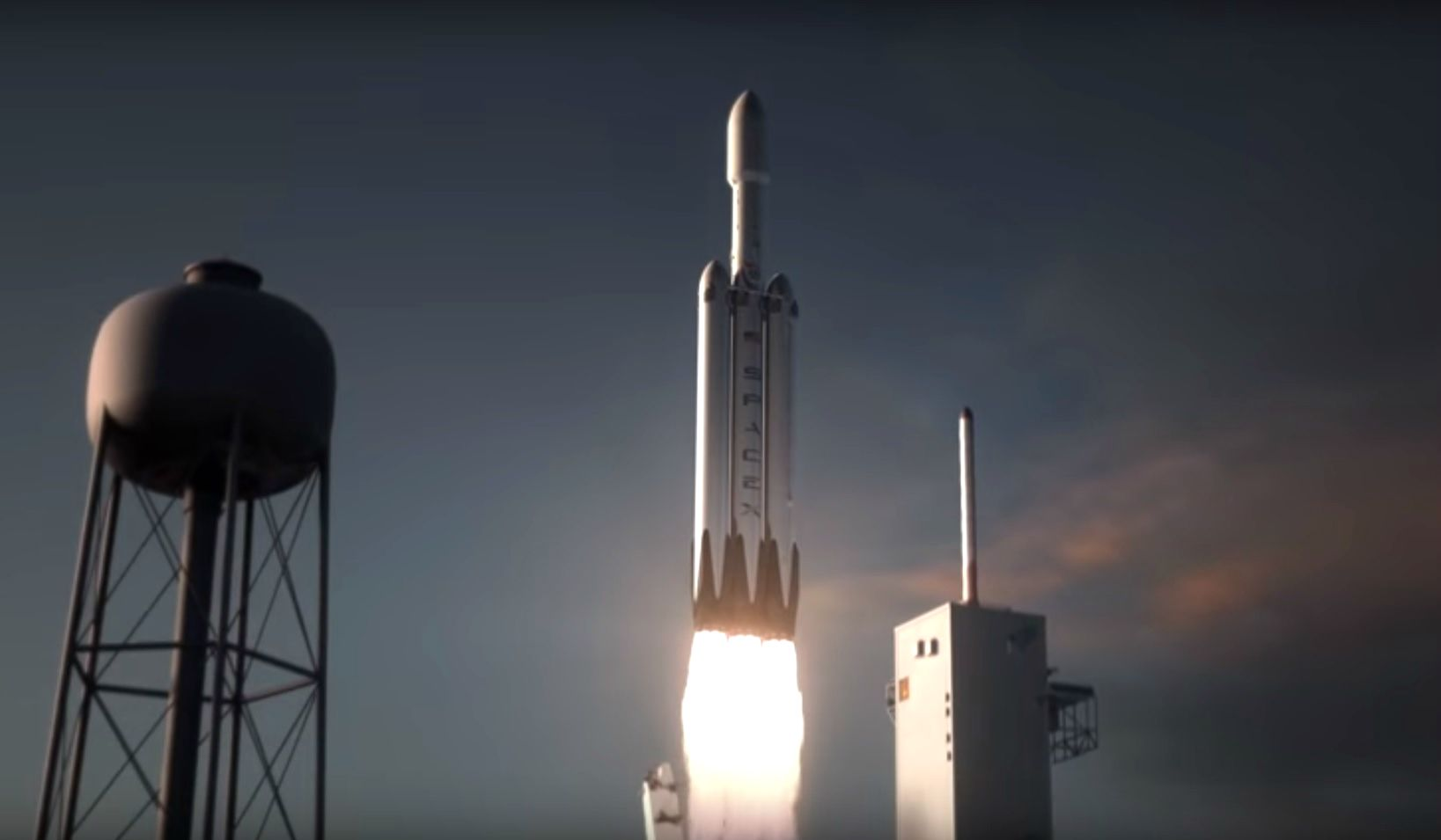 spacex falcon heavy rocket mars