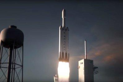 spacex falcon heavy rocket mars