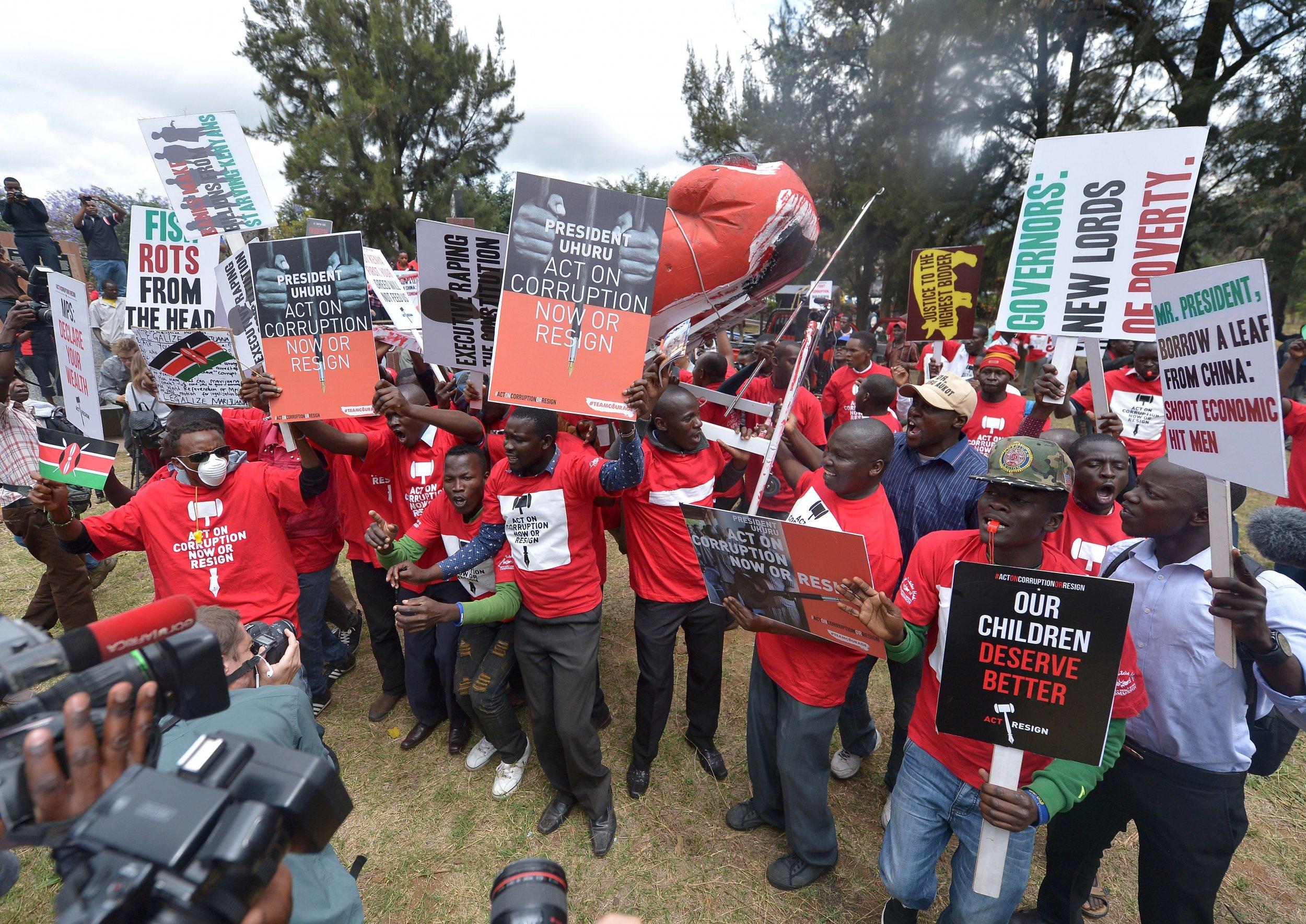 Kenya anticorruption demo