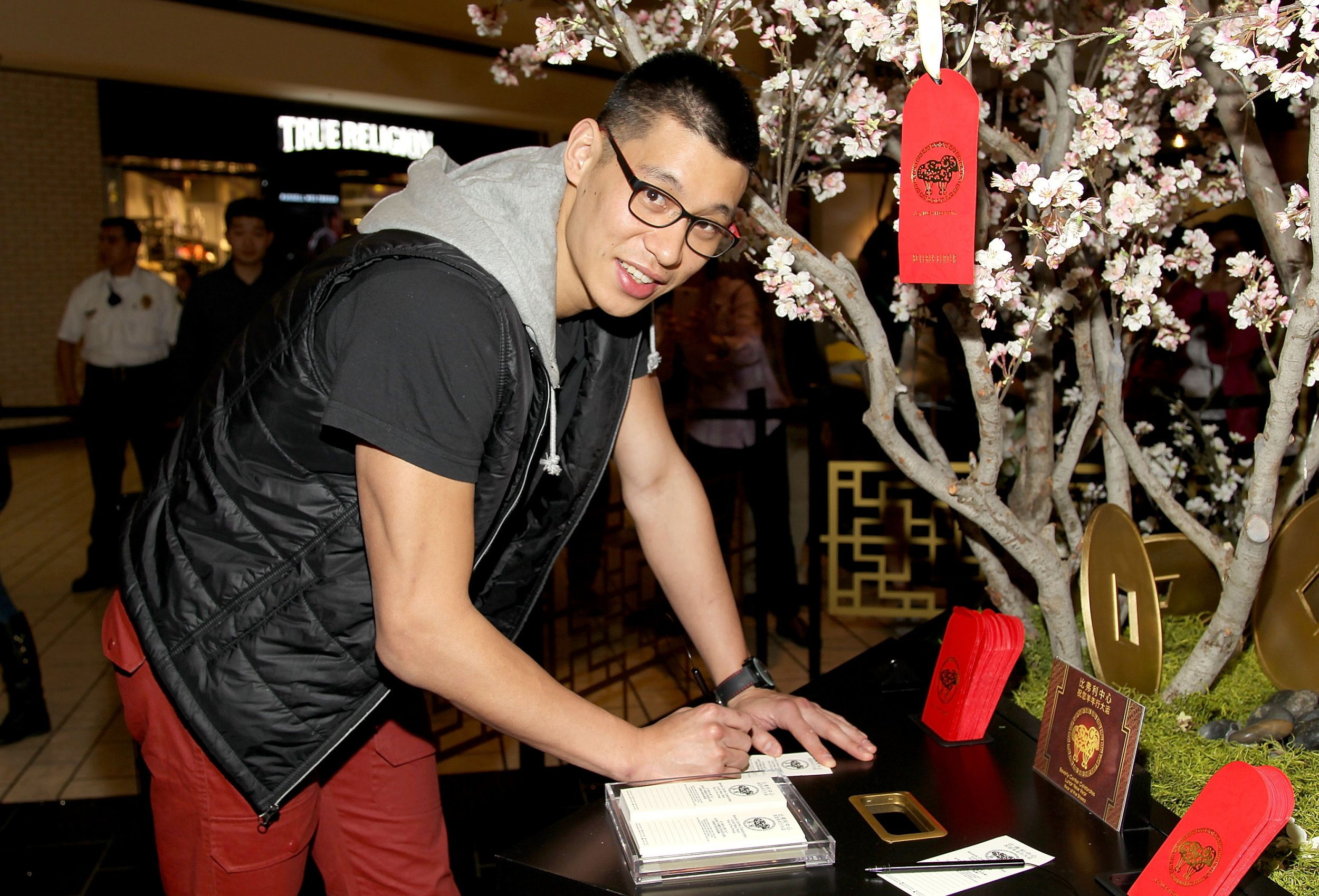 Jeremy Lin, now of the New York Knicks, in Los Angeles California, February 19 2015.