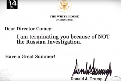 Colbert - alternative Comey letter