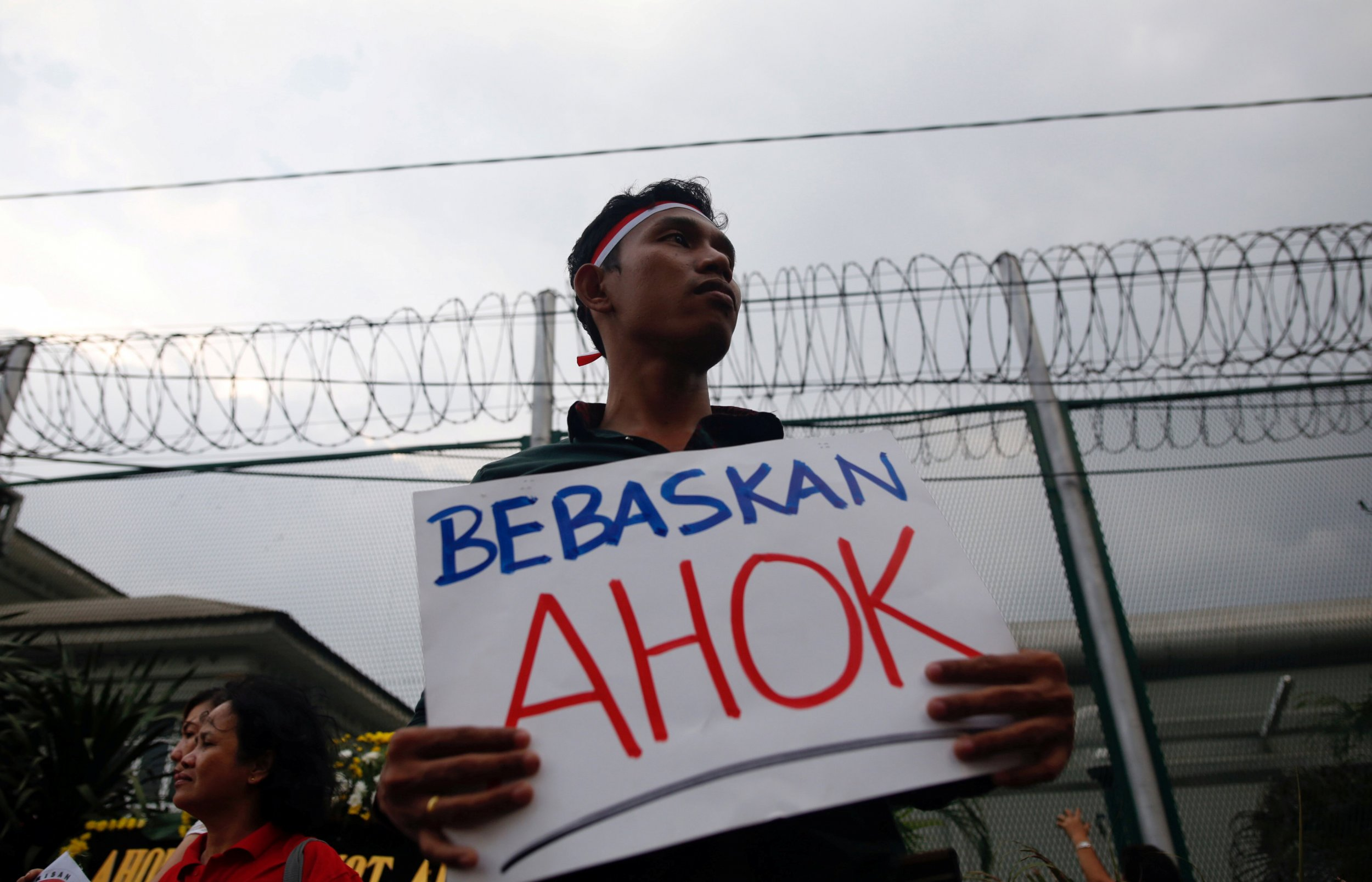 Jakarta governors blasphemy conviction shows democracy and man protesting ahok stopboris Gallery