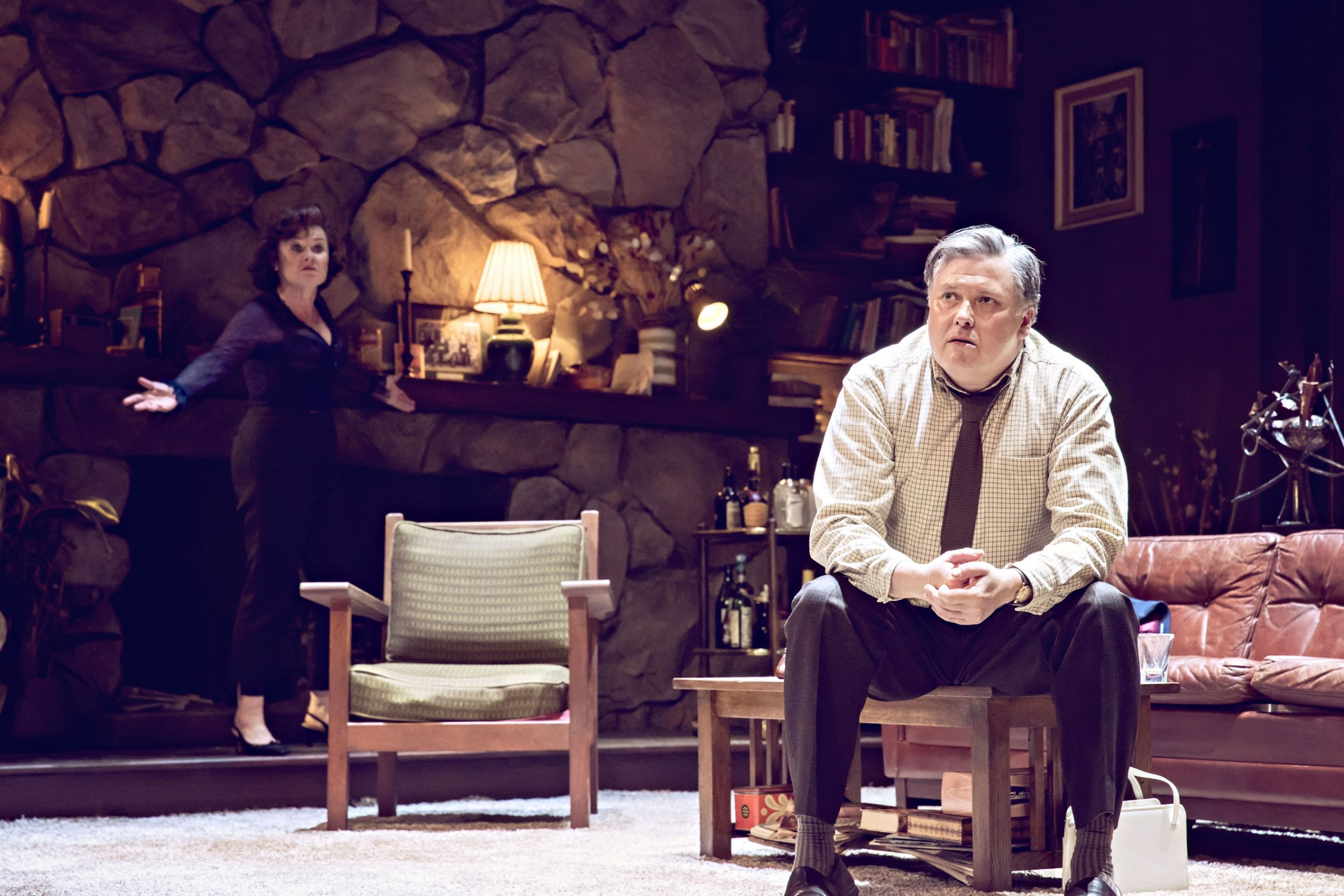 "Imelda Staunton and Conleth Hill in ""Who's Afraid of Virginia Woolf?"""