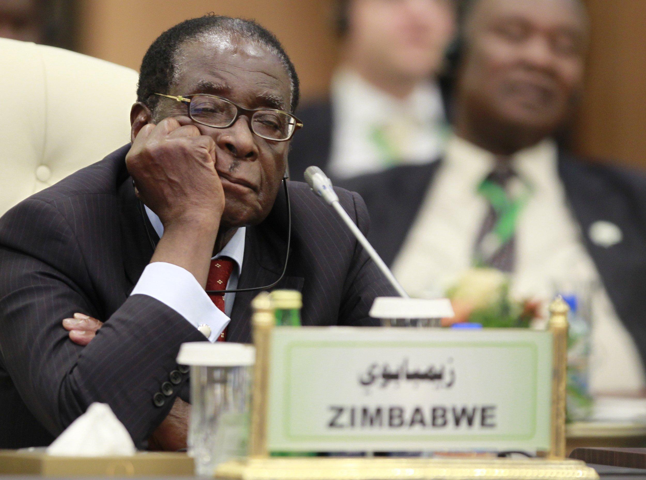 Mugabe sleeping