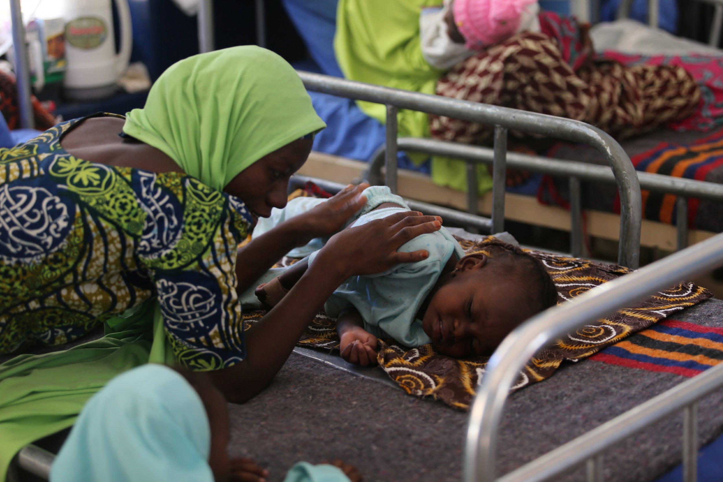 Nigeria meningitis baby