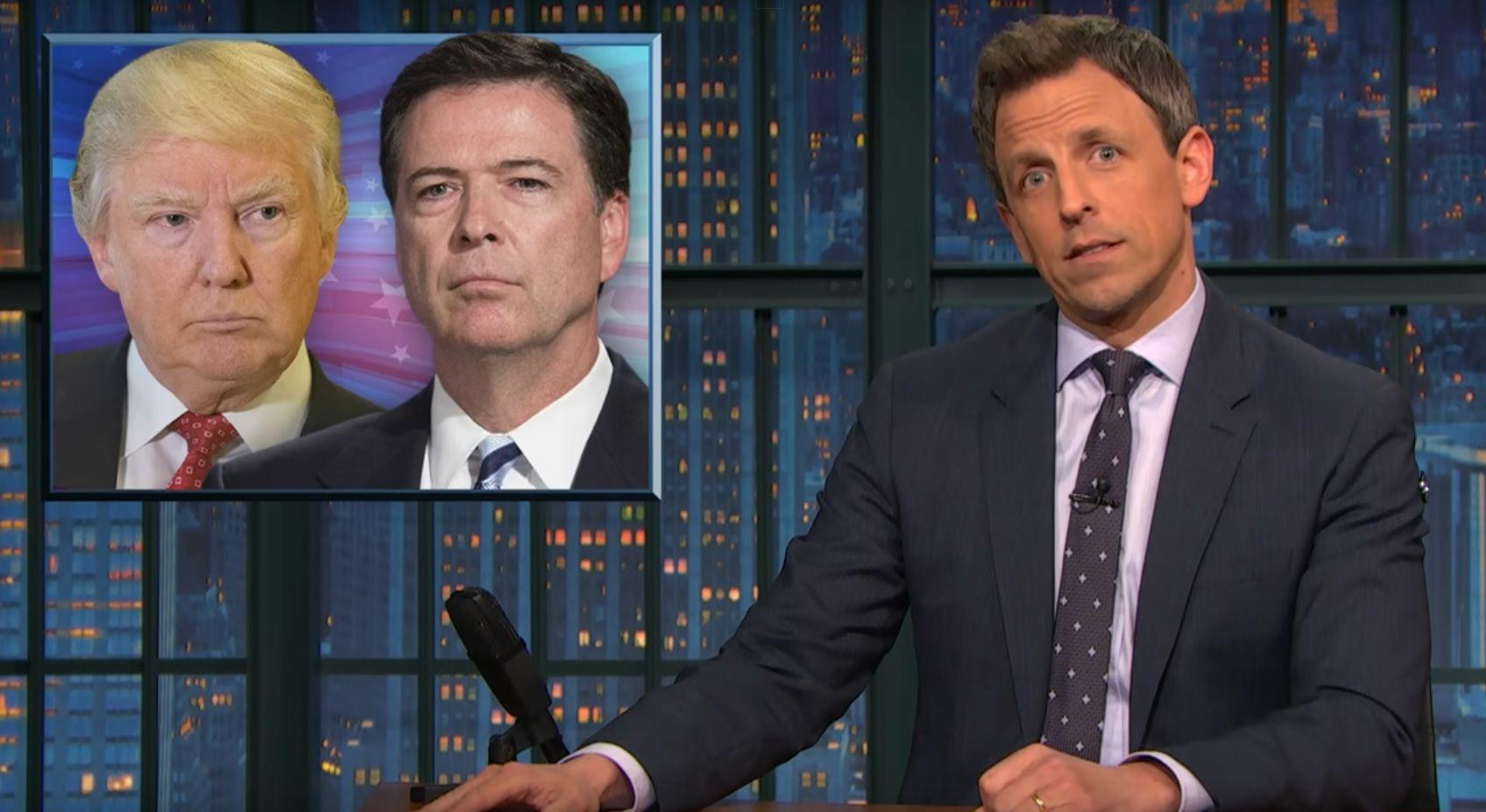 Watch: Seth Meyers Jokes About Trump Firing Comey Saga