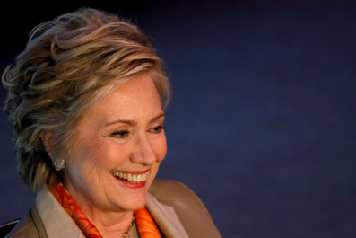 Hillary Clinton attends dinner at Haim Saban's house in LA