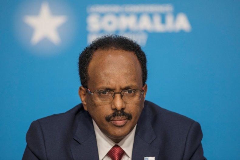 Somalia President at London conference
