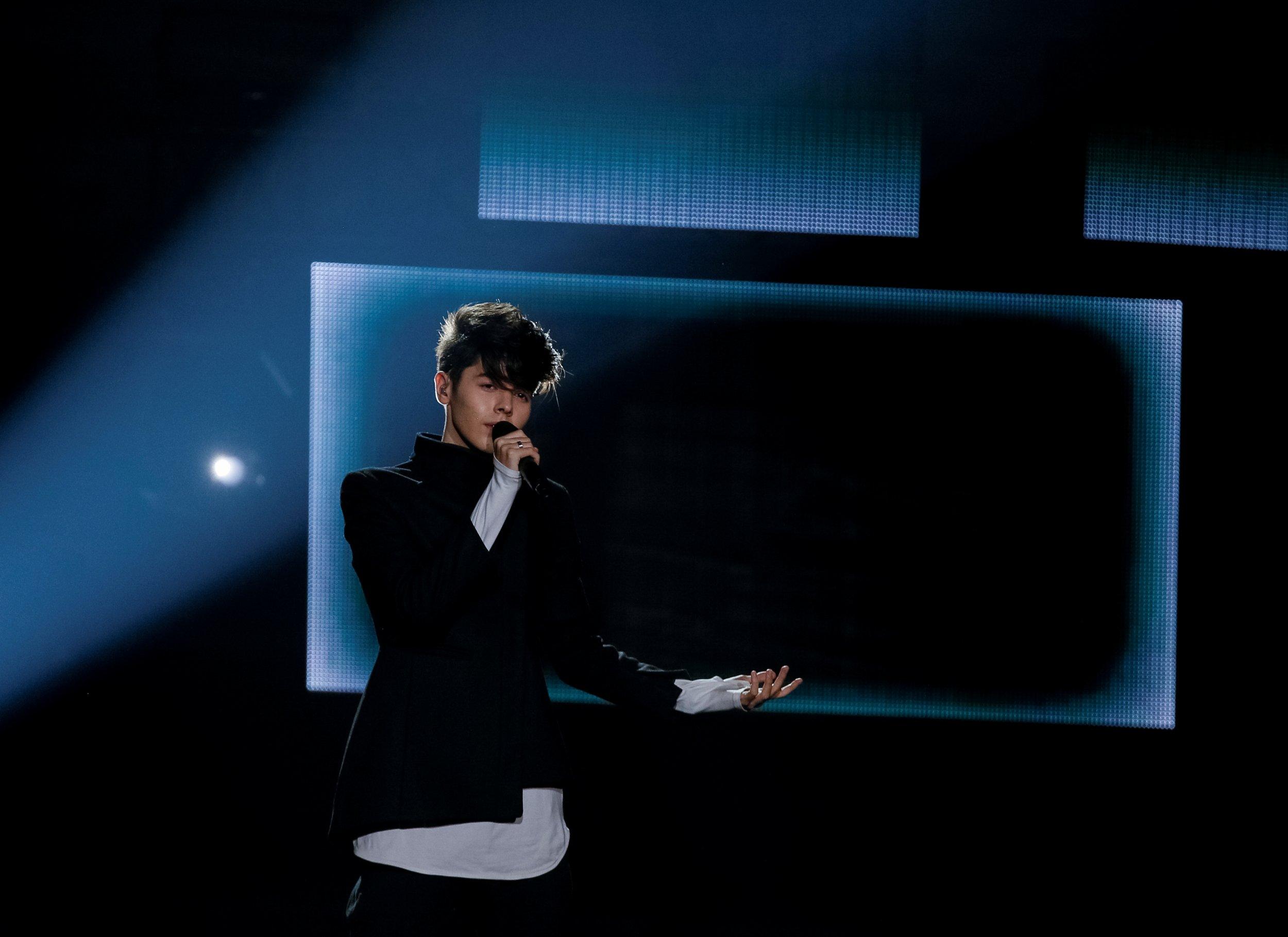 Bulgaria's Kristian Kostov at Eurovision 2017
