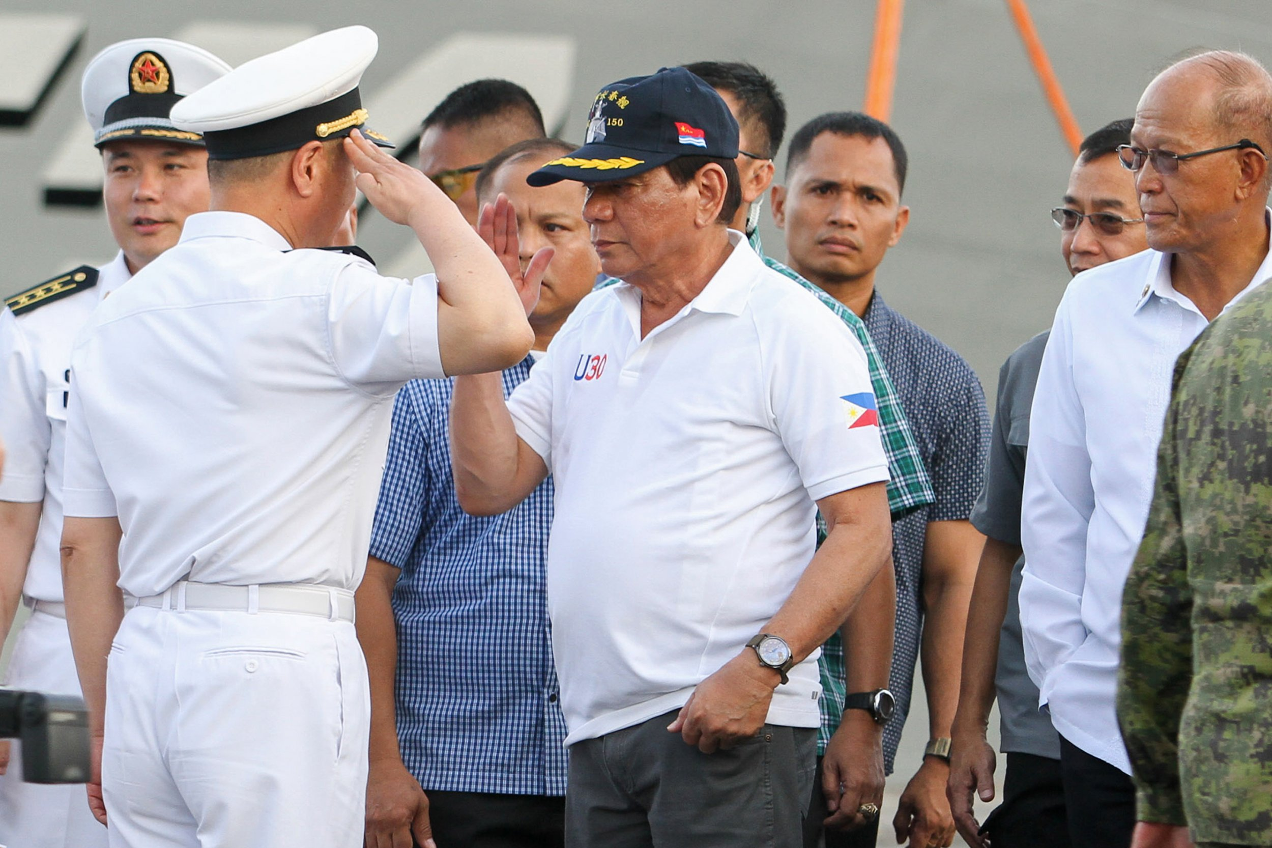 Duterte and Chinese naval officer