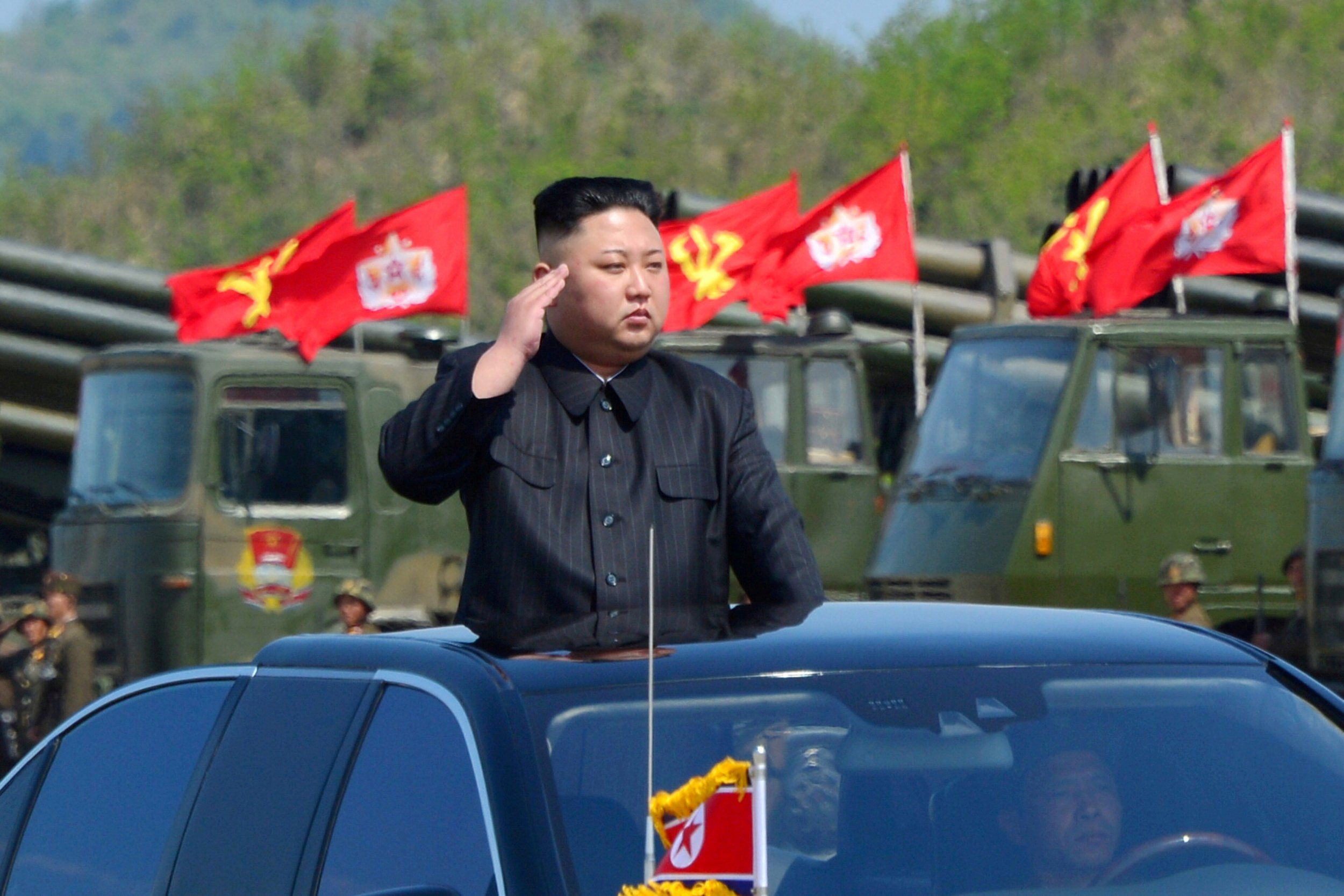 Kim in a car