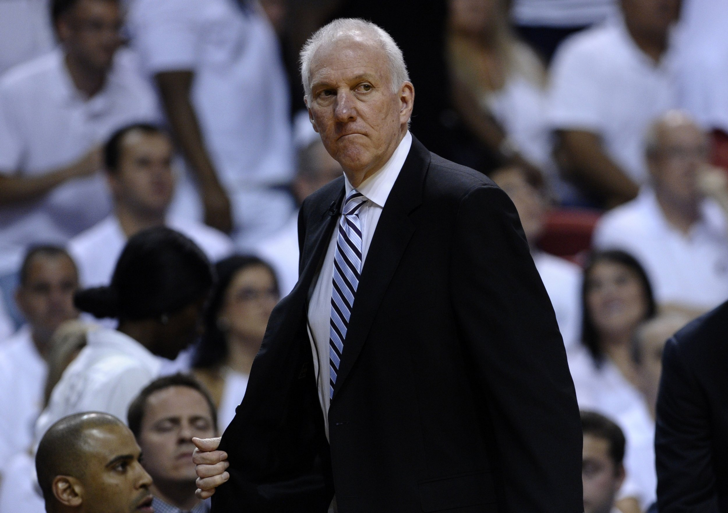San Antonio Spurs head coach Gregg Popovich.