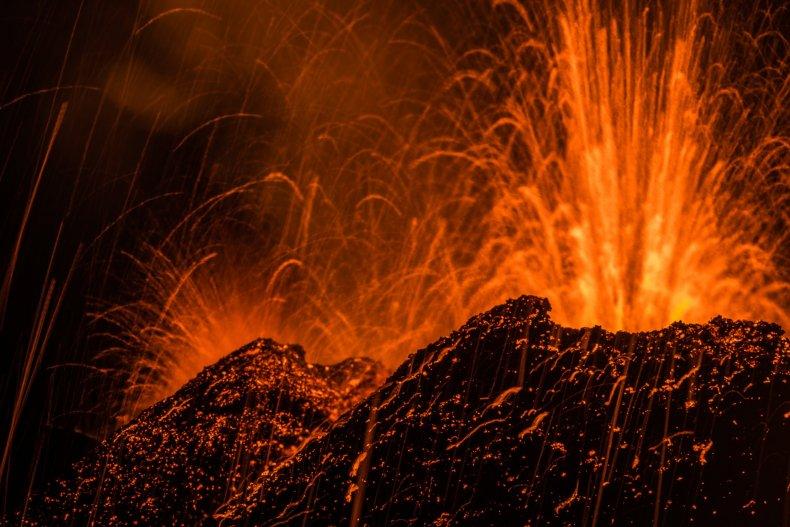 Piton de la Fournaise volcano