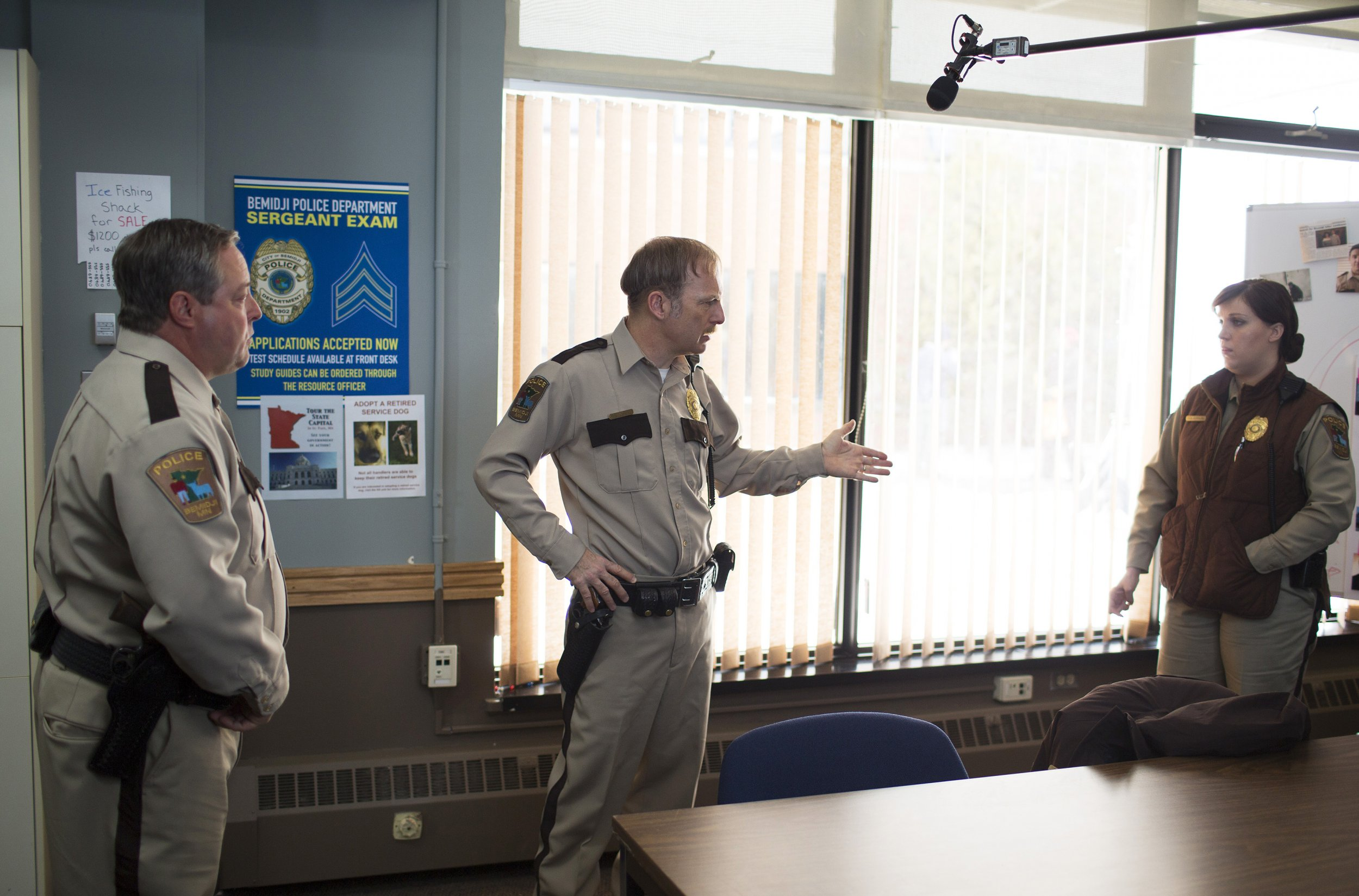 Cast filming Fargo