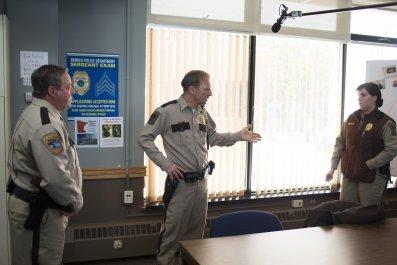 Cast filming Fargo