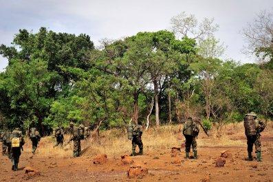 Uganda soldiers patrol LRA