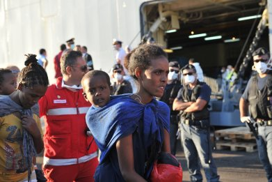 Migrants in Crotone