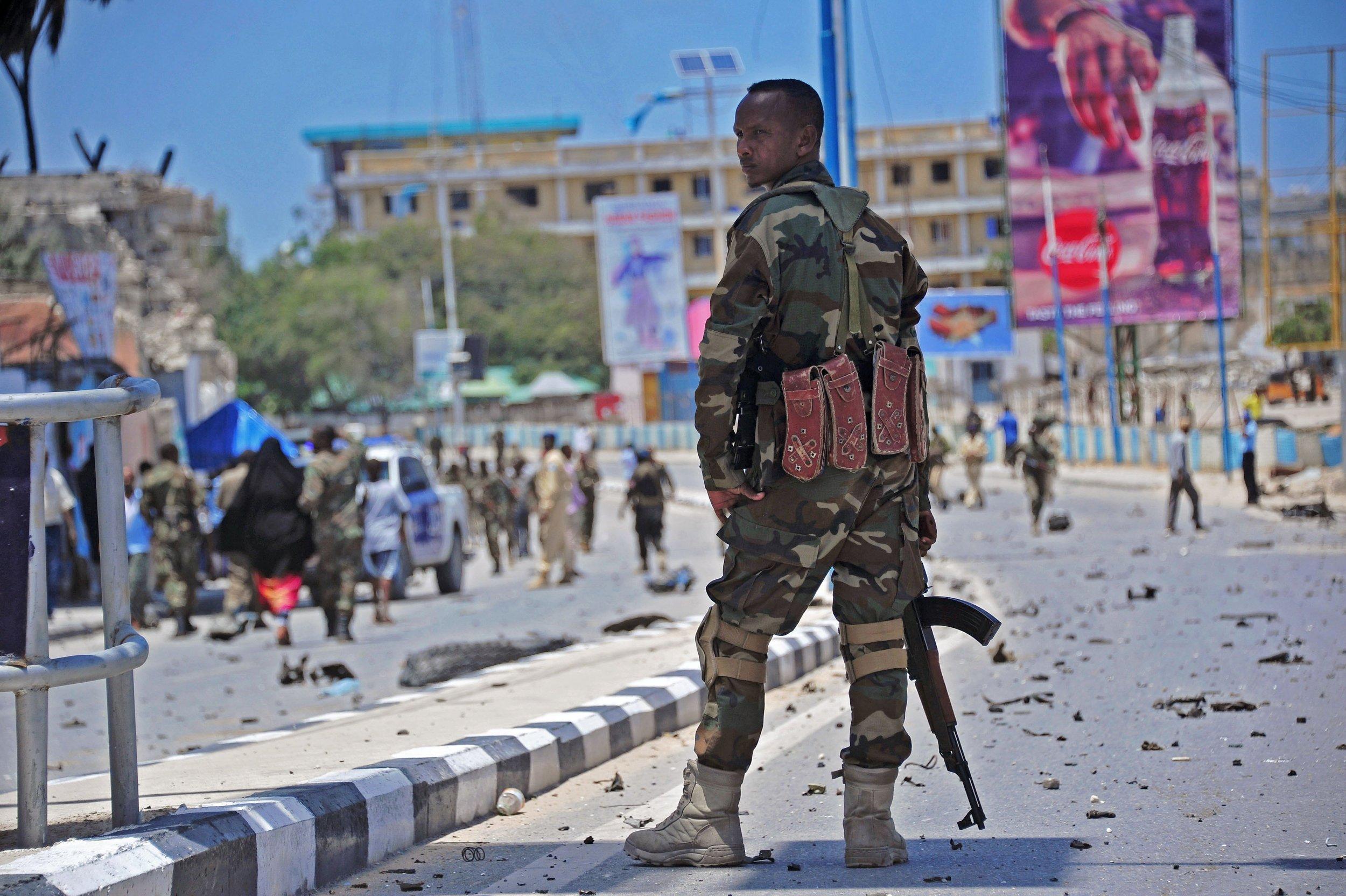 Somalia soldier suicide bomb blast