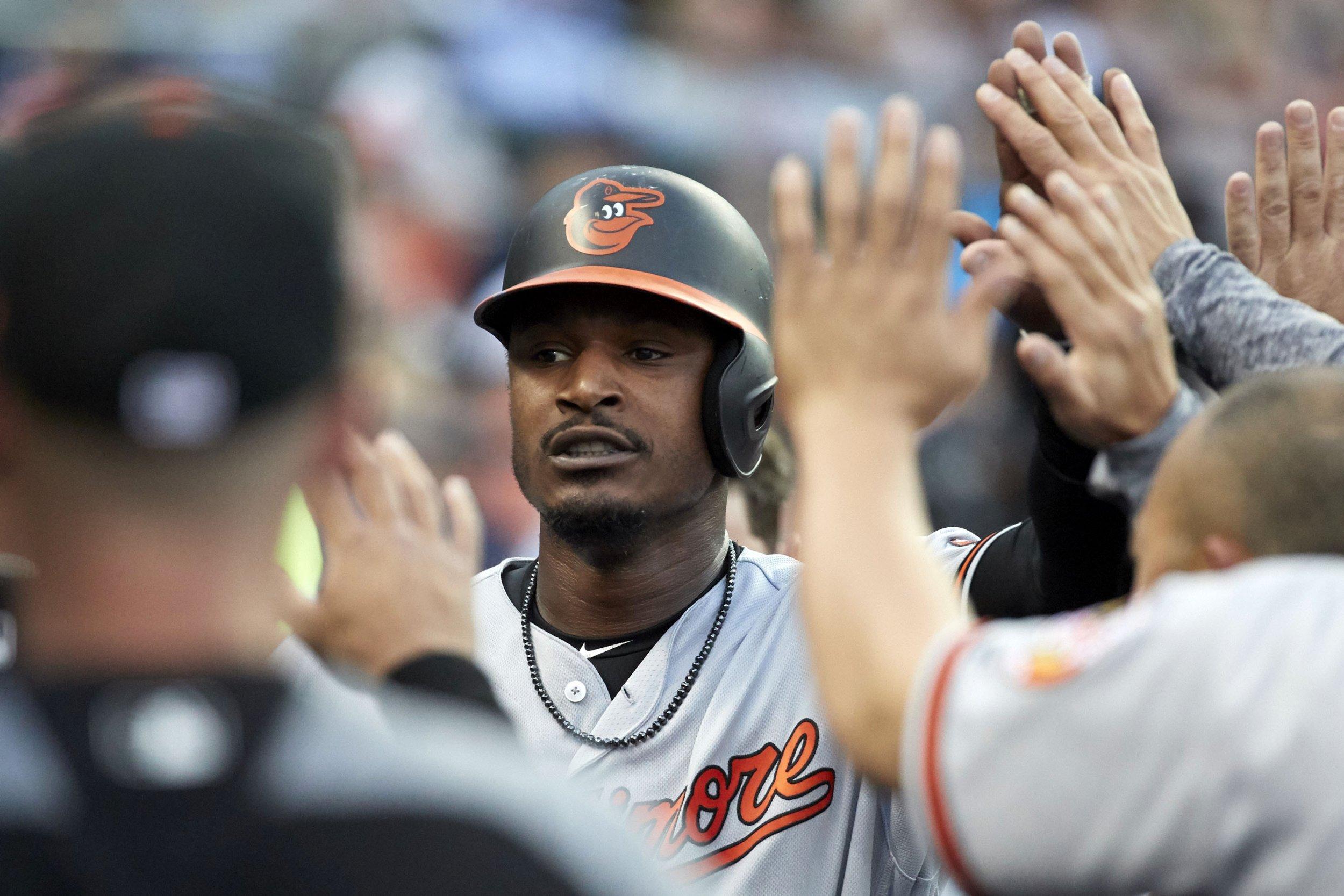 Baltimore Orioles outfielder Adam Jones.