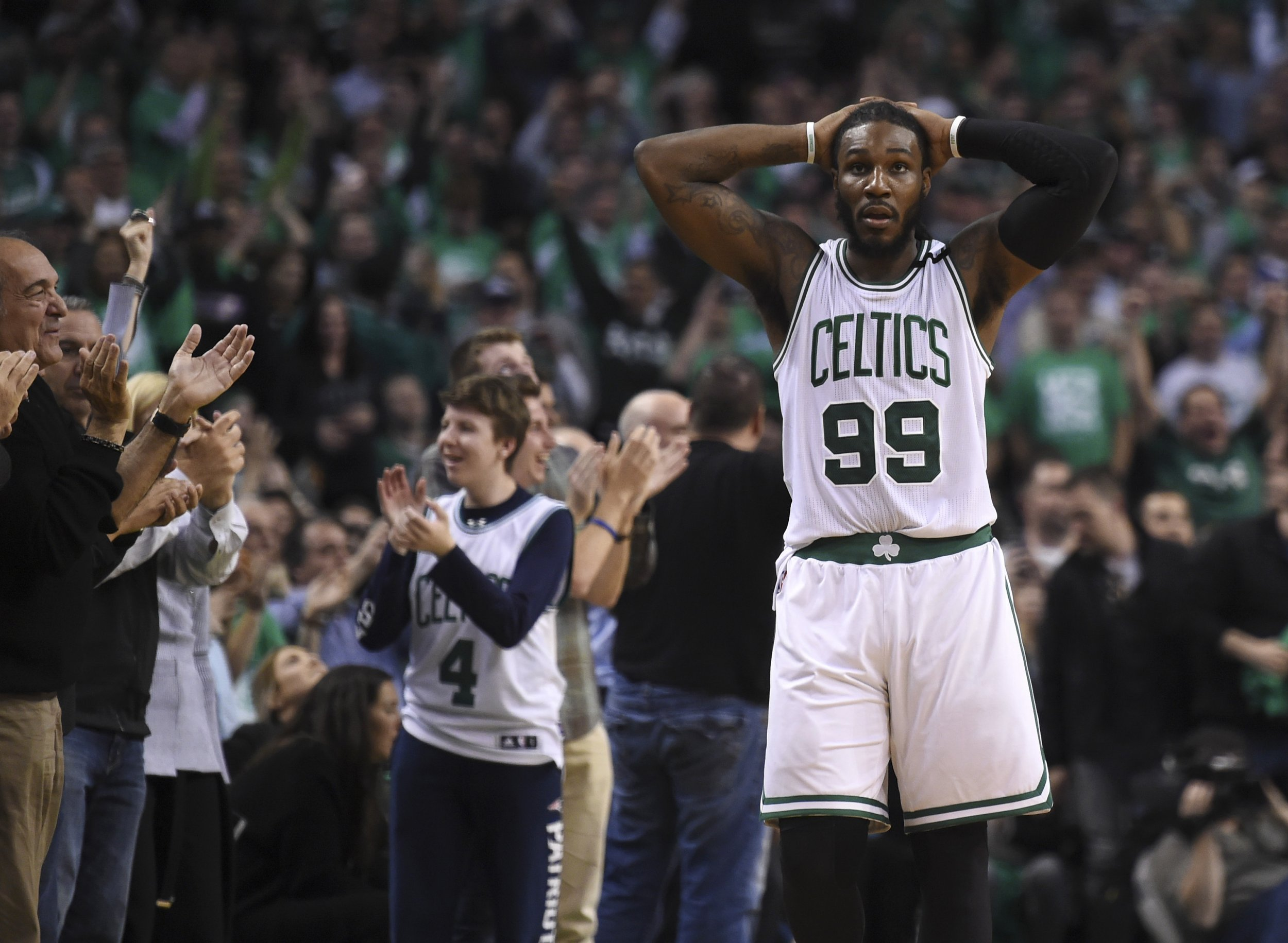 Boston Celtics forward Jae Crowder at TD Garden, Boston, May 15. The Celtics will pick first in the 2017 NBA Draft.