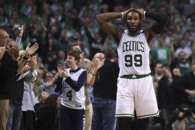 Boston Celtics forward Jae Crowder at TD Garden, Boston, May 15. The Celtics will pick first in the 2017 NBA Draft.
