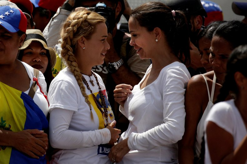 Lilian Tintori and Maria Corina Machado