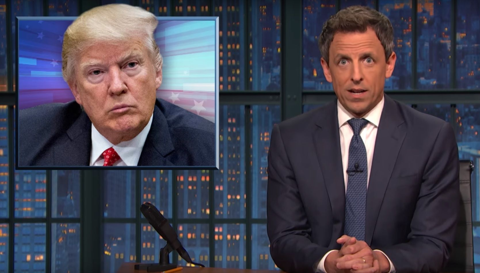 Seth Meyers says Trump is unfit for presidency