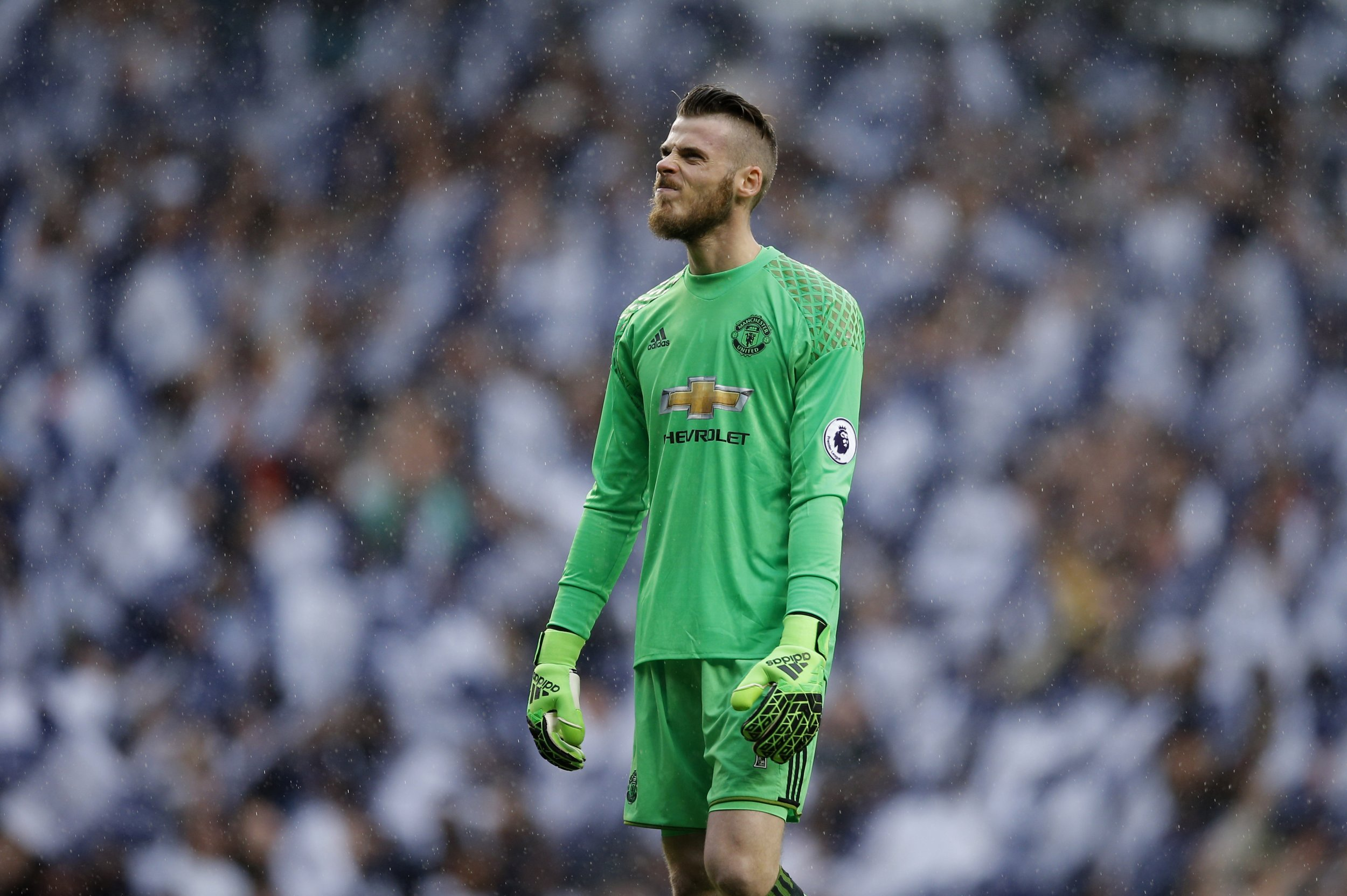Manchester United goalkeeper David De Gea at White Hart Lane, north London, May 14.