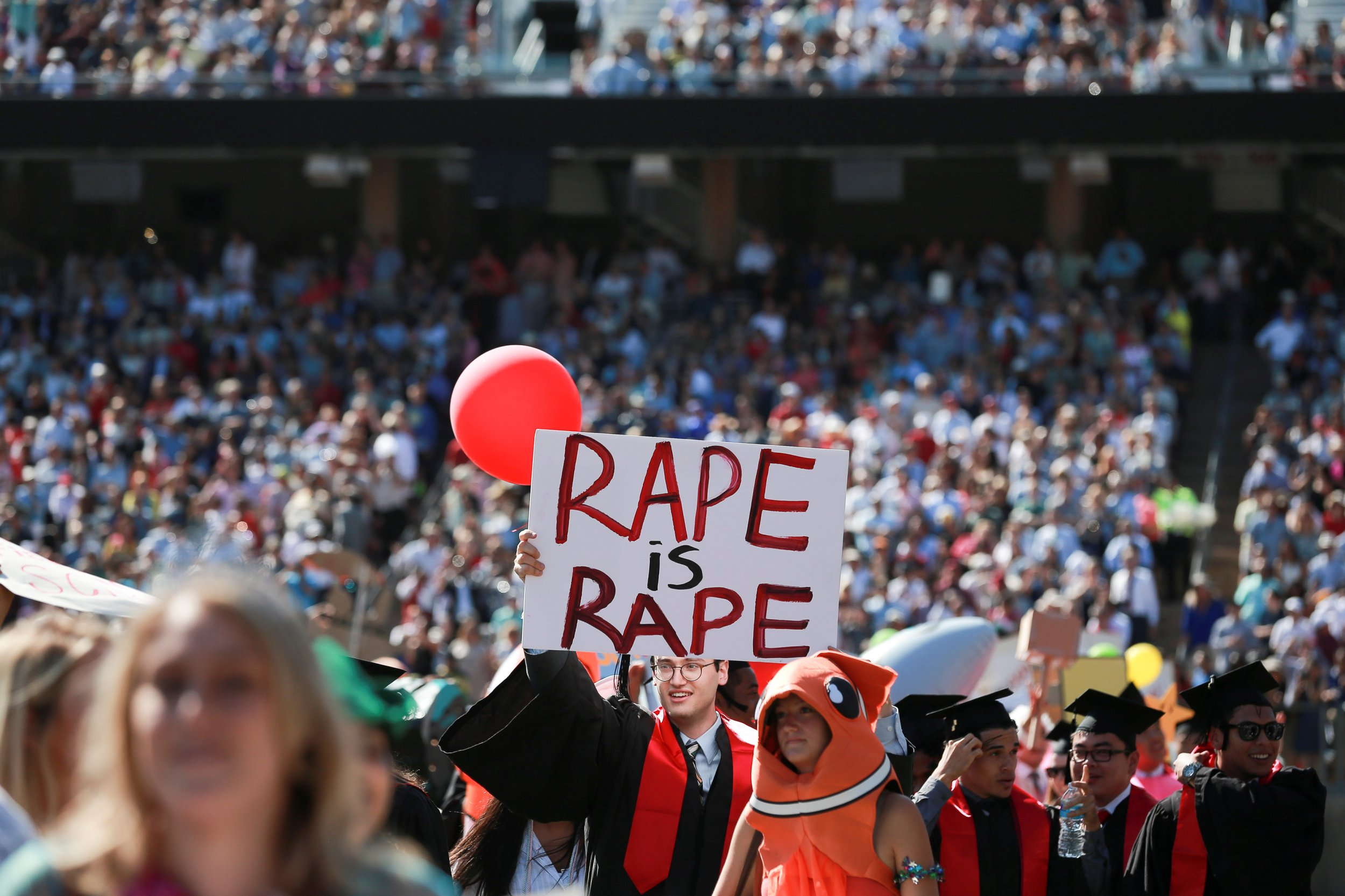 Anti-rape protest sign