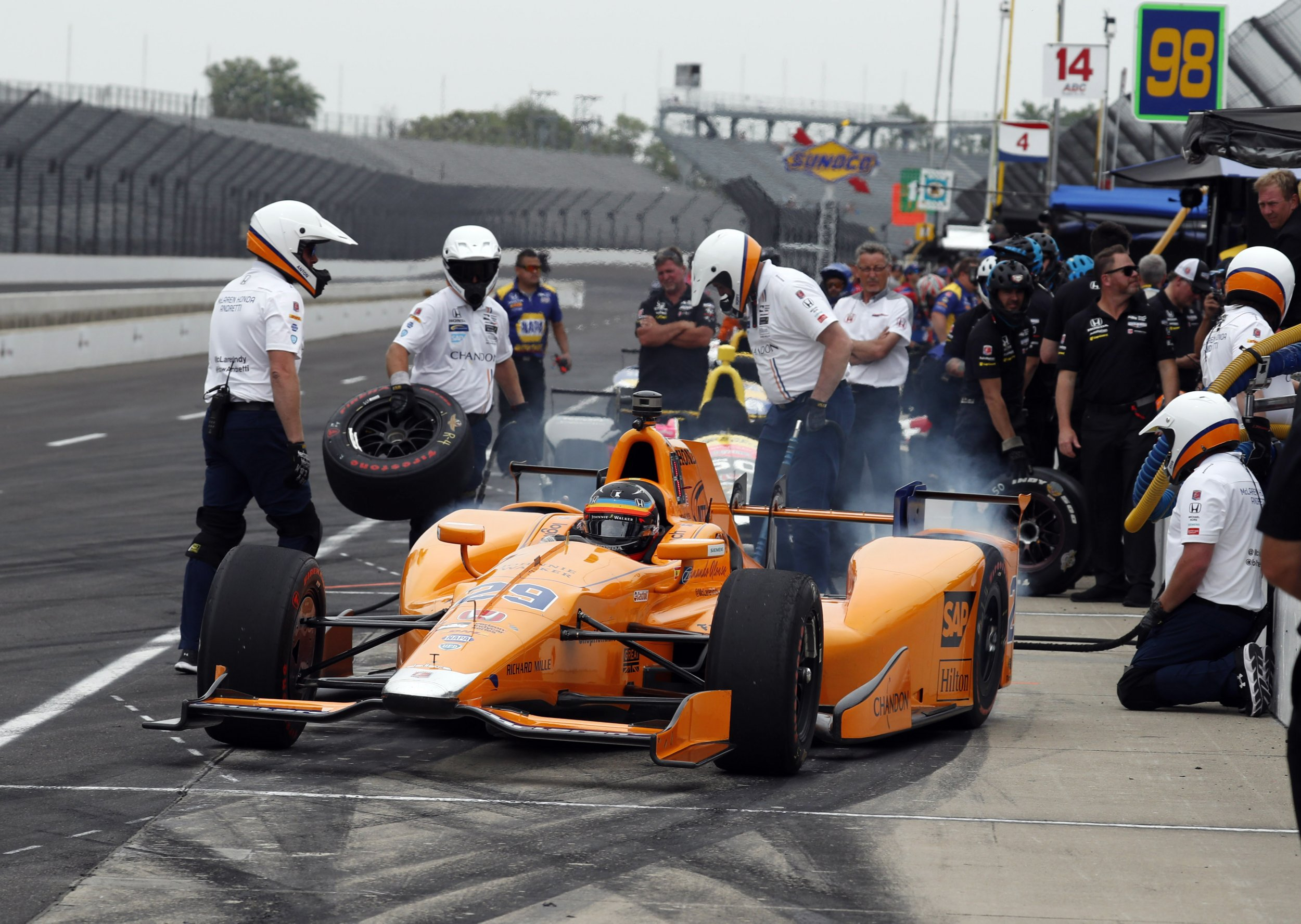 Fernando Alonso at Indianapolis Motor Speedway, Indiana, May 17.