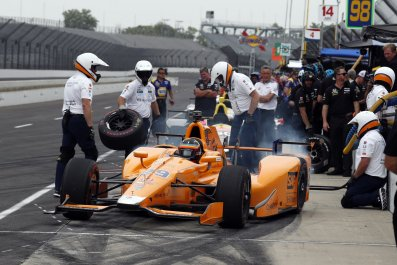Fernando Alonso at Indianapolis Motor Speedway, Indiana, May 17.