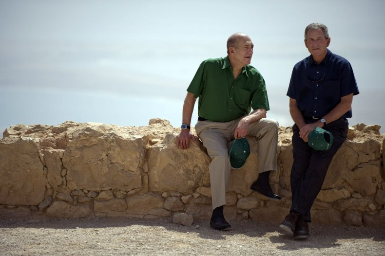 George Bush at Masada