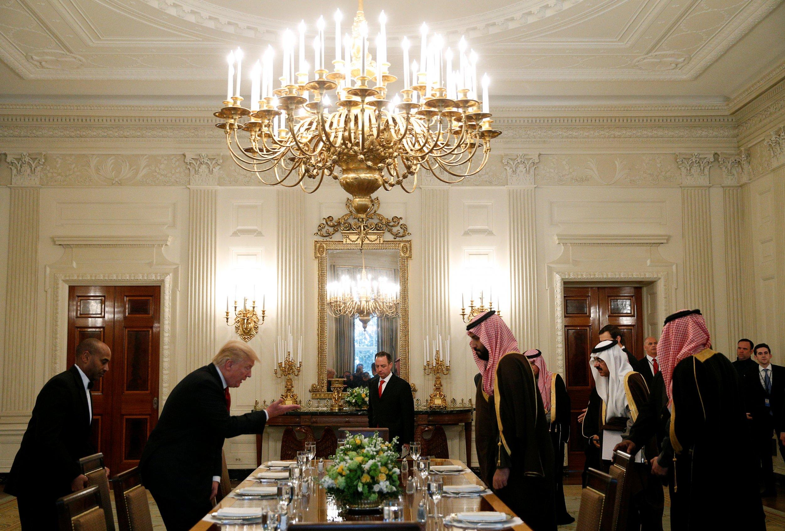 Trump and Saudi Deputy Crown Prince Mohammed bin Salman