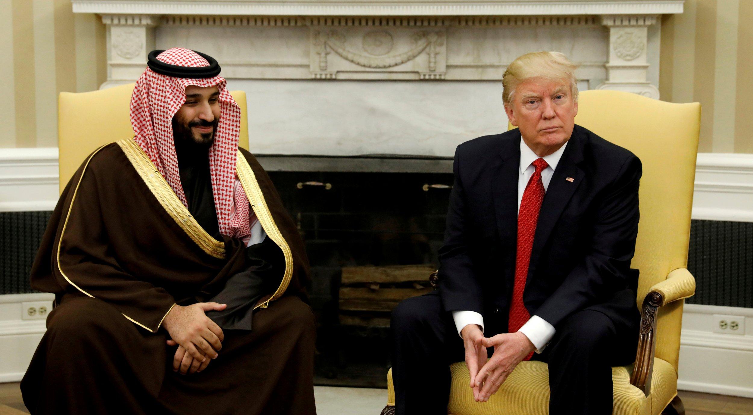 Saudi deputy crown prince and Trump