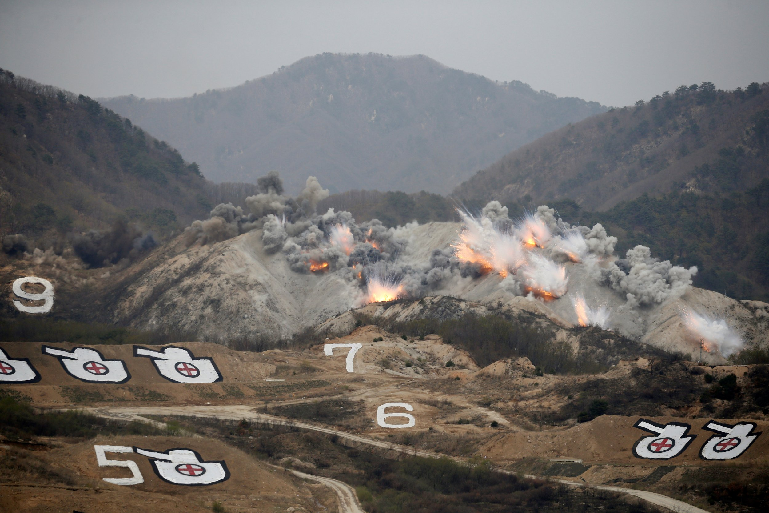 A training field near the demilitarized zone separating the two Koreas in Pocheon, South Korea April 21, 2017.