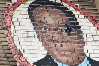 Robert Mugabe picture at stadium