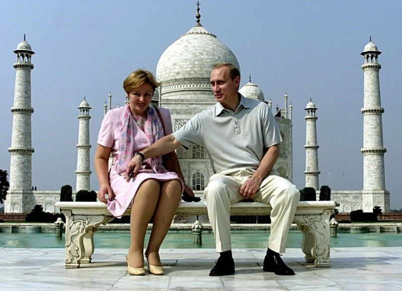 Russian President Vladimir Putin and his wife Lyudmila