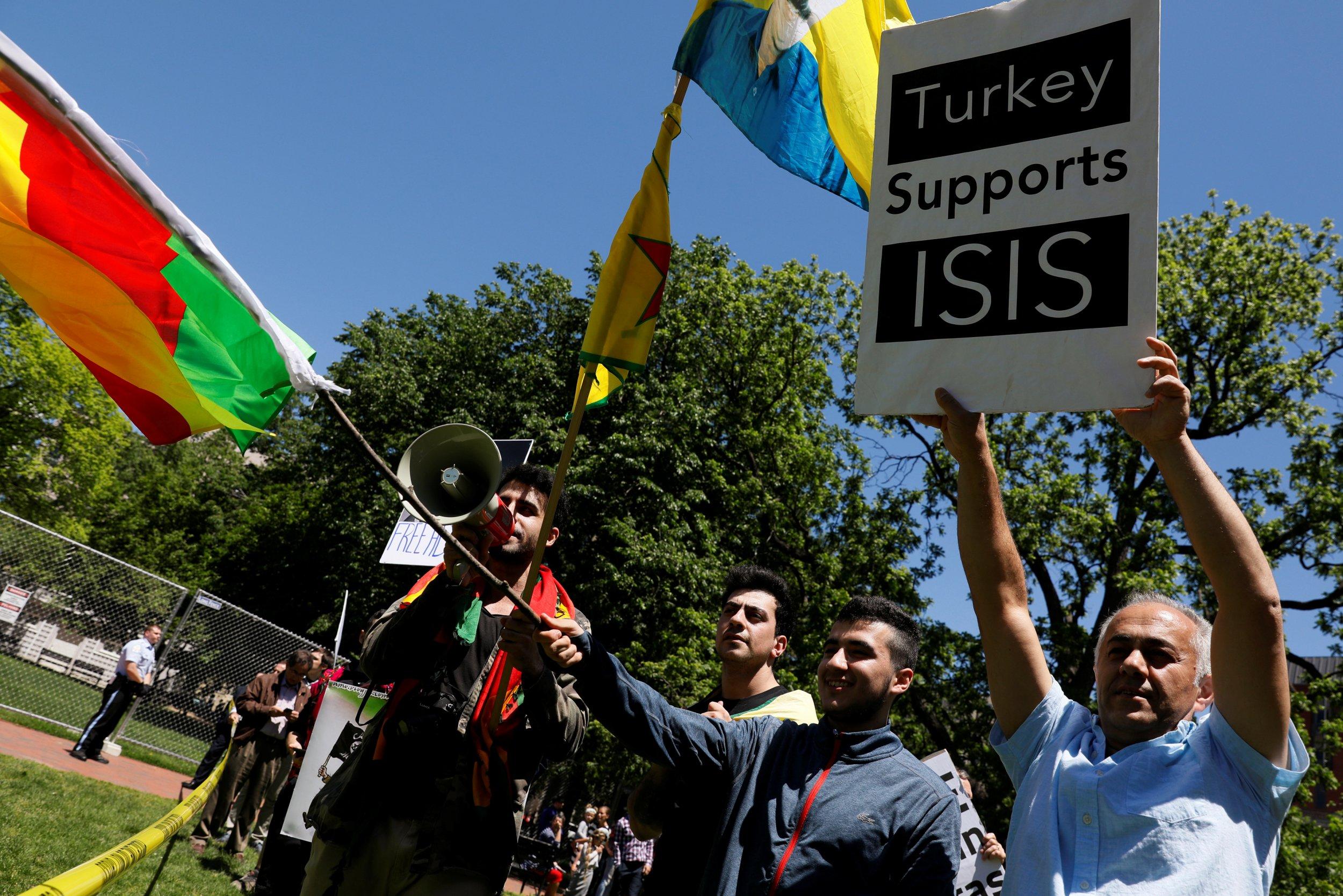 Turkish Embassy protest