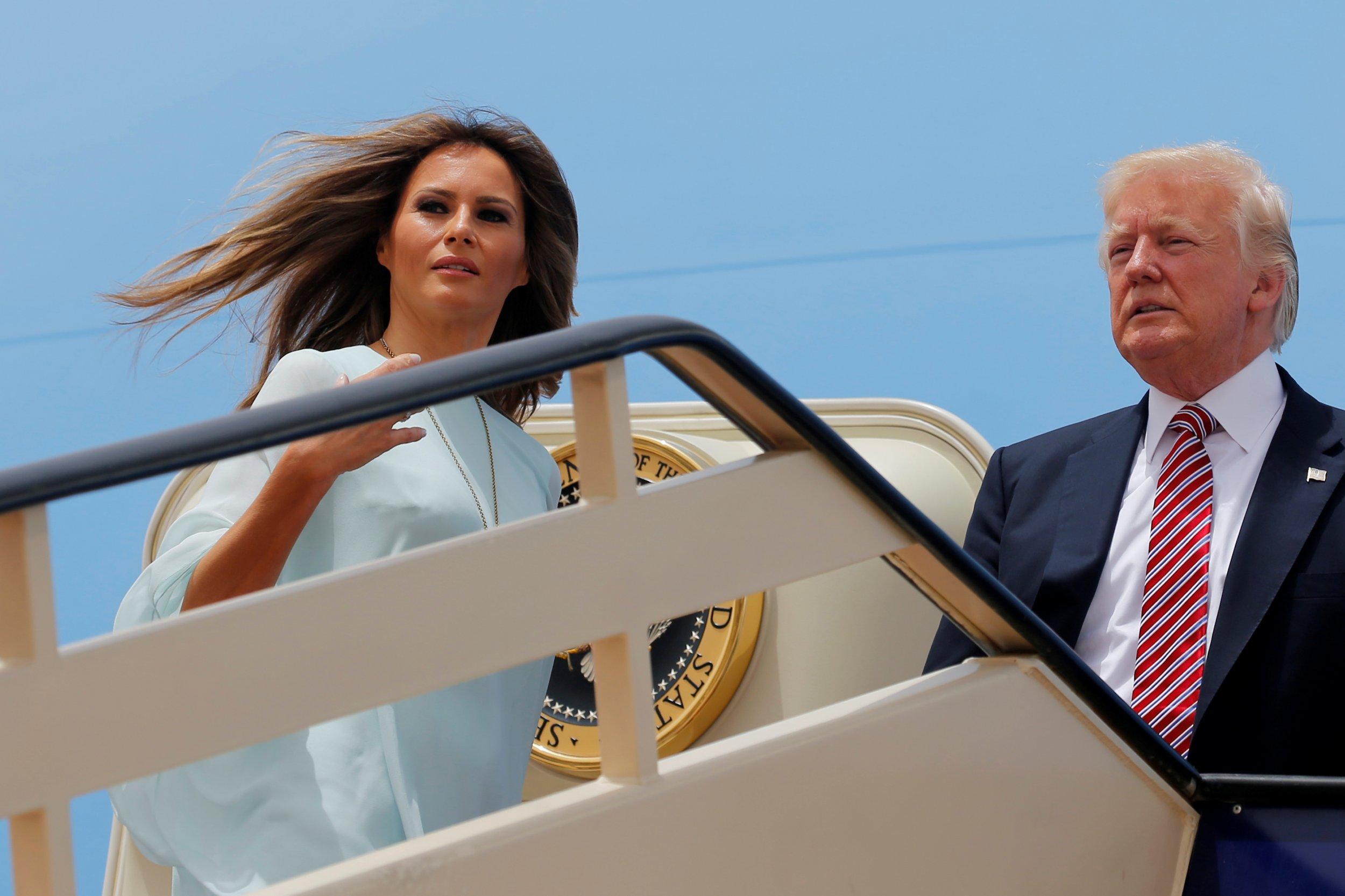 Melania and Donald Trump