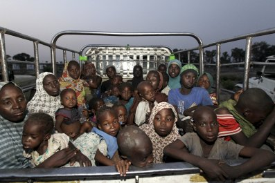 Children and women rescued from Boko Haram
