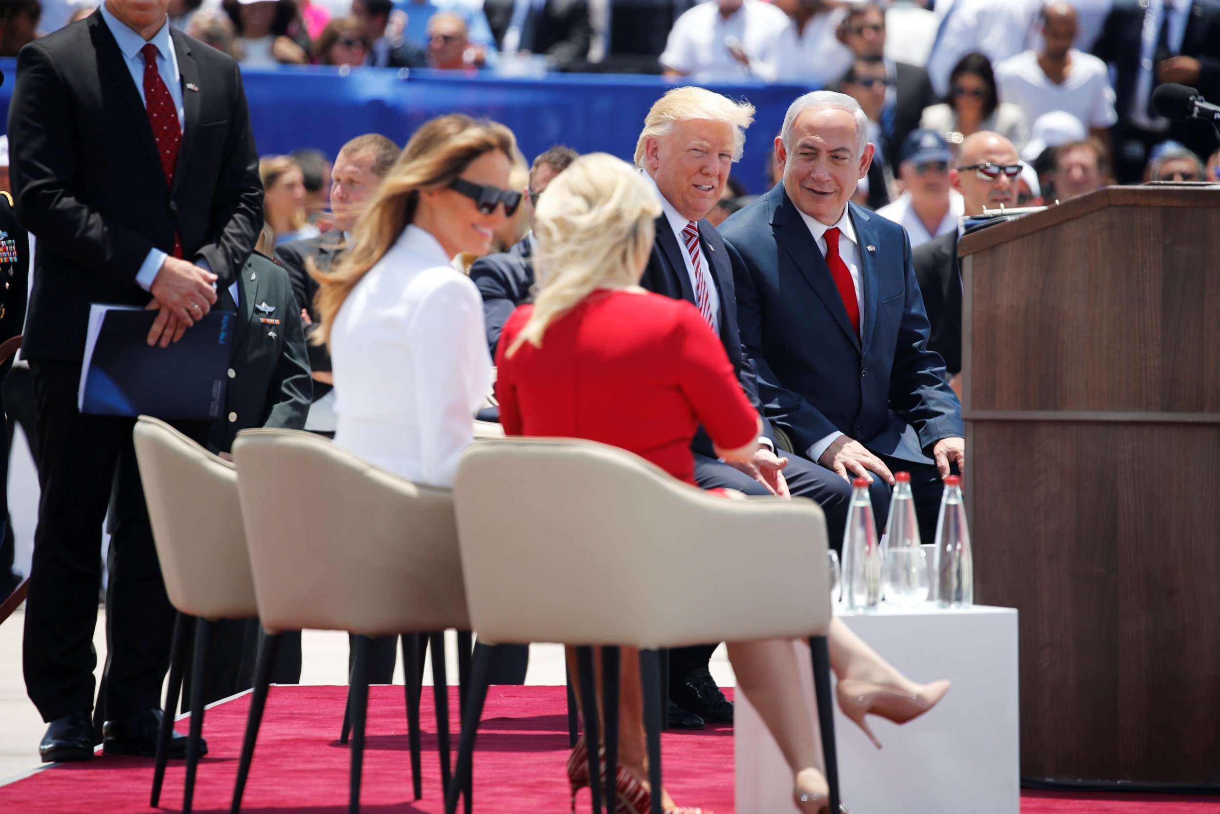 Melania Trump and Sara Netanyahu