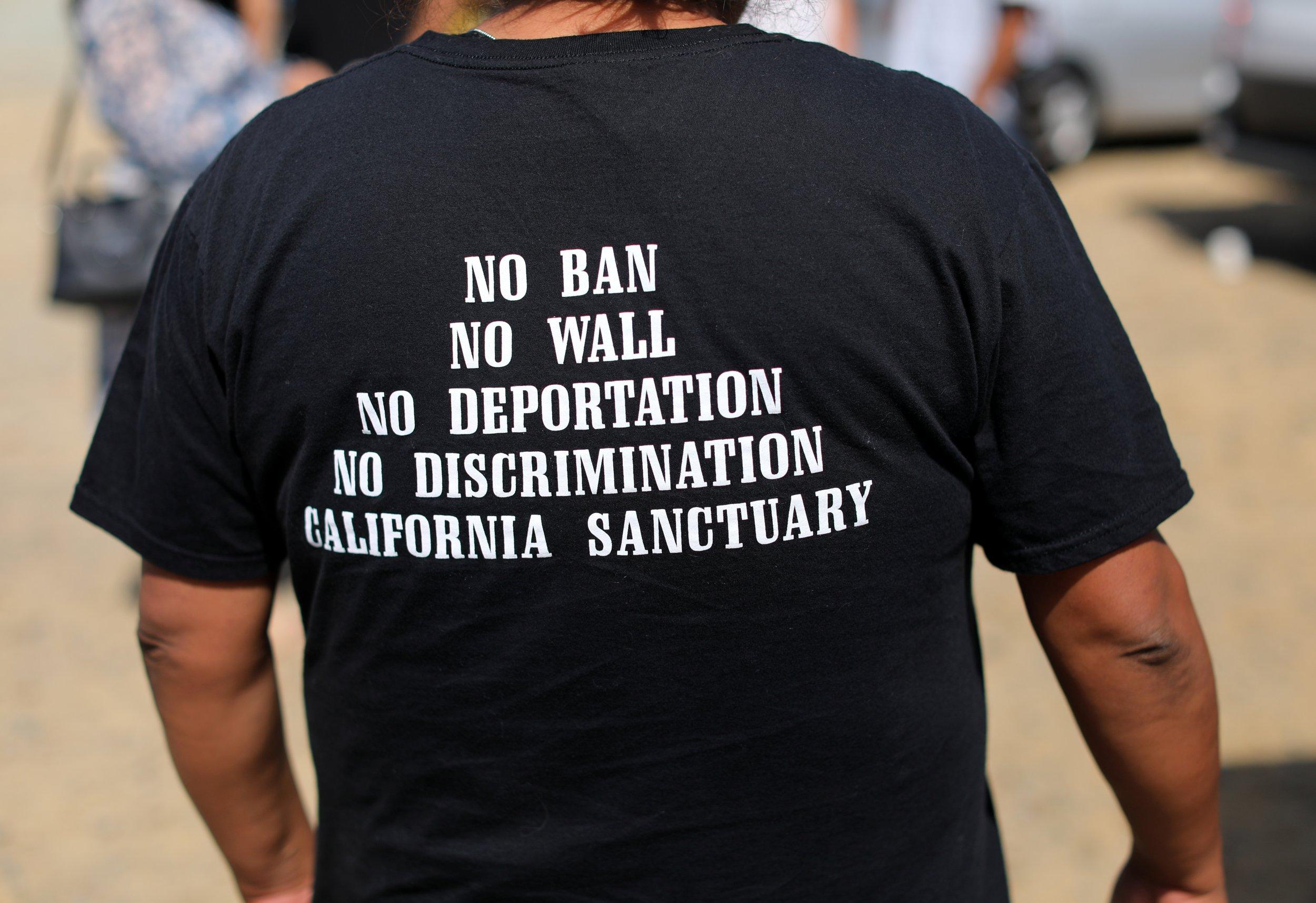 California sanctuary protest