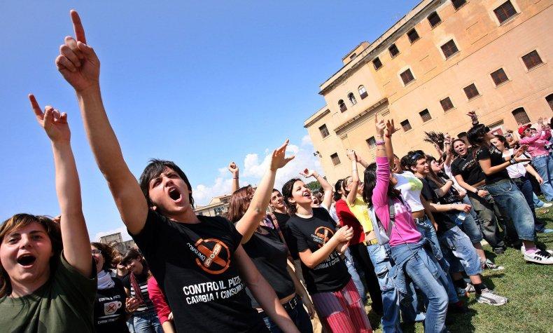 Anti-mafia march Sicily