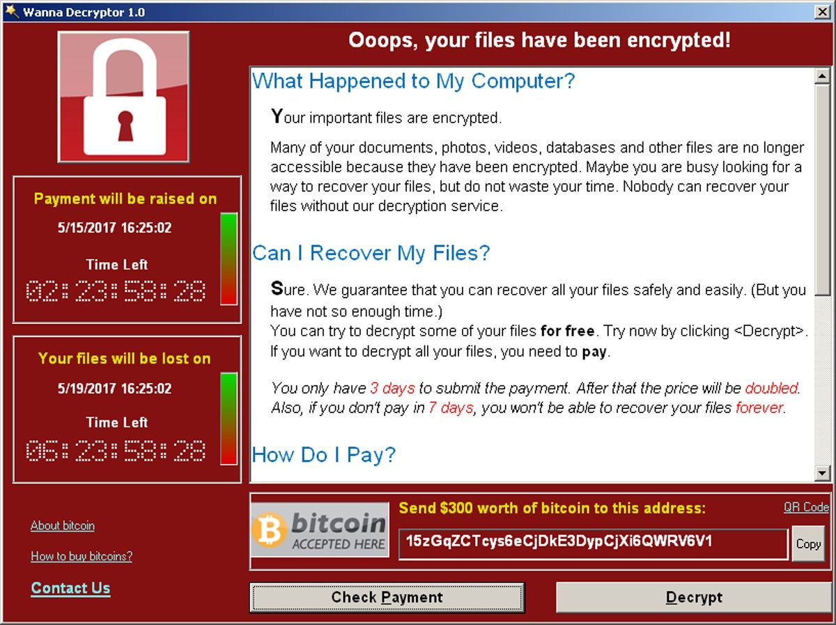 ransomware wannacry bitcoin ransom kaspersky