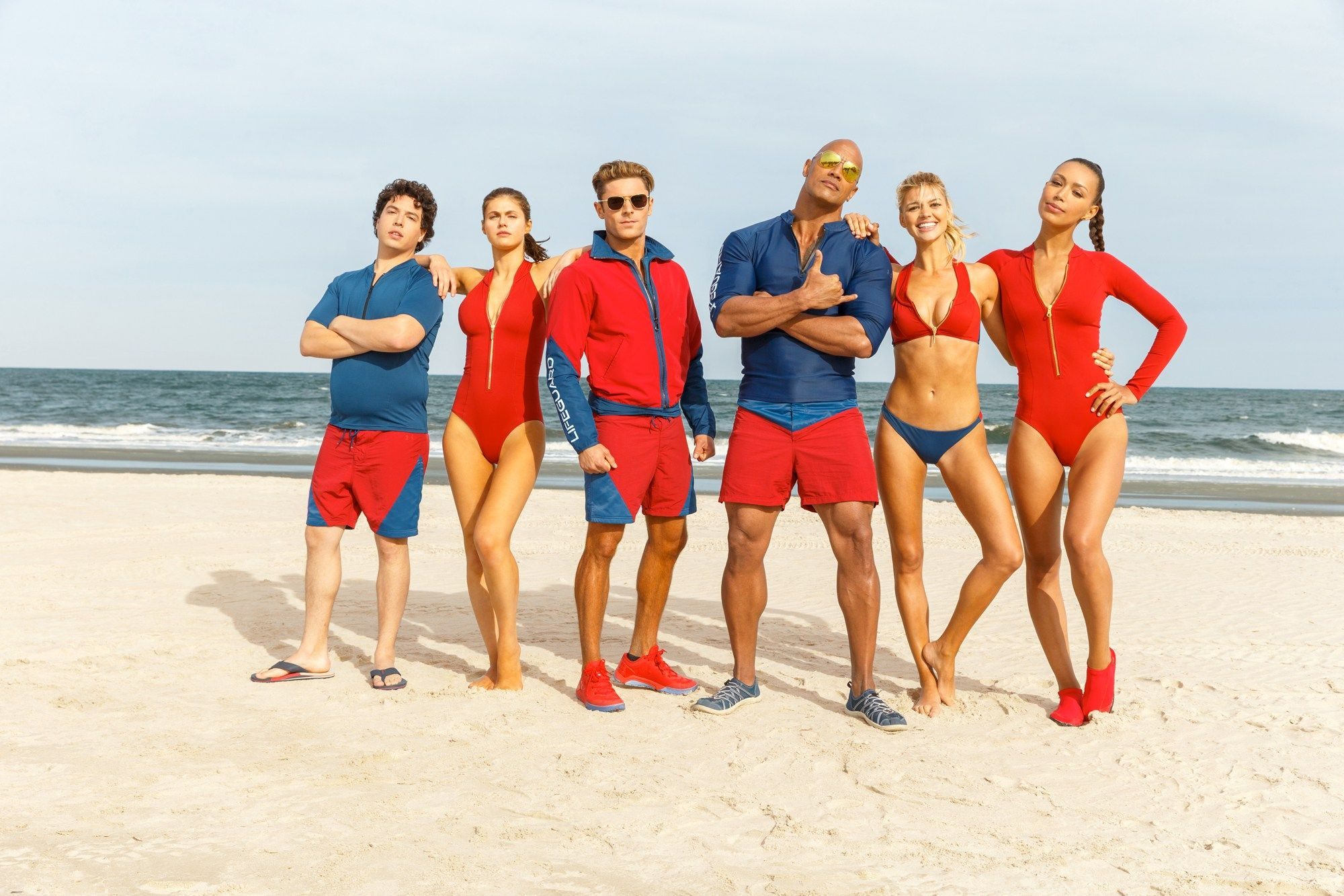 Baywatch Dwayne Johnson and Zac Efron